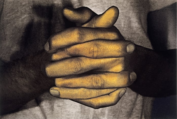 Hands Only from Infrared Outtakes by Bruce Nauman