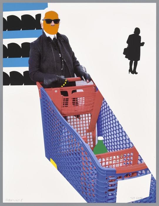 Karl Lagerfeld by John Baldessari