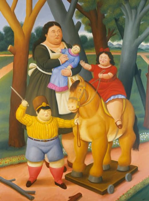 At the Park by Fernando Botero