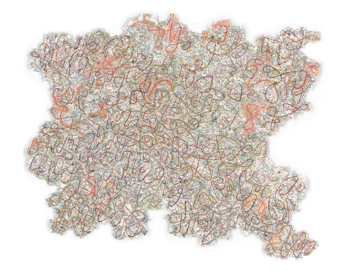Scribble Map (A Scribble Map for Europe) by Gerhard Marx