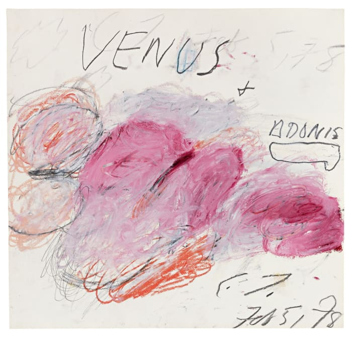 Venus and Adonis by Cy Twombly