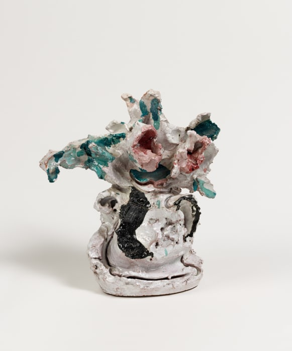 Untitled (Vaso con Rose) by Lucio Fontana