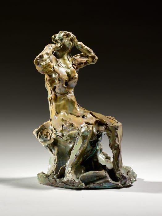 Figura Femminile Seduta by Lucio Fontana
