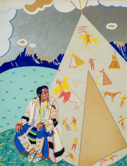 Chief Buffalo Hide [Left Panel of Triptych] by Winold Reiss