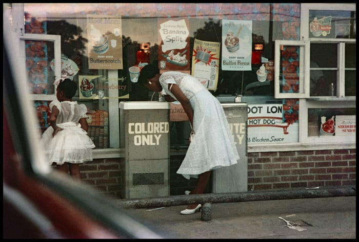 Drinking Fountains, Mobile, Alabama by Gordon Parks