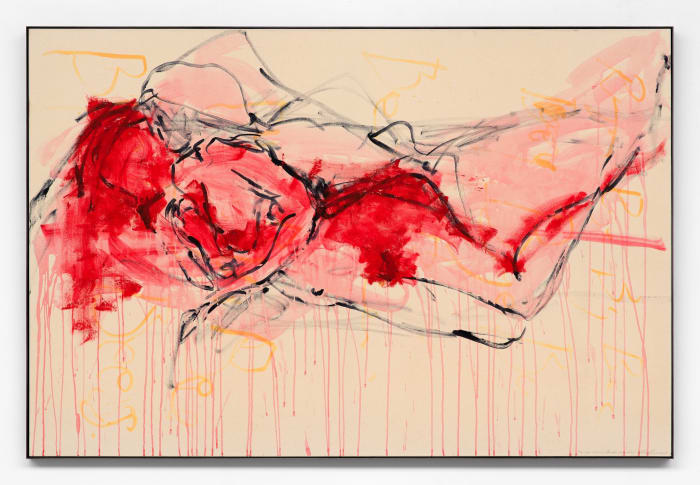 My lips moved across your face by Tracey Emin