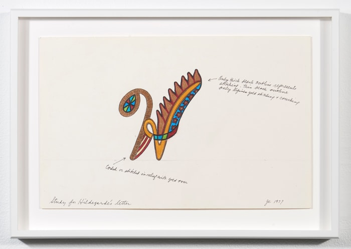 Hildegarde - Illuminated Capital Letter Study by Judy Chicago