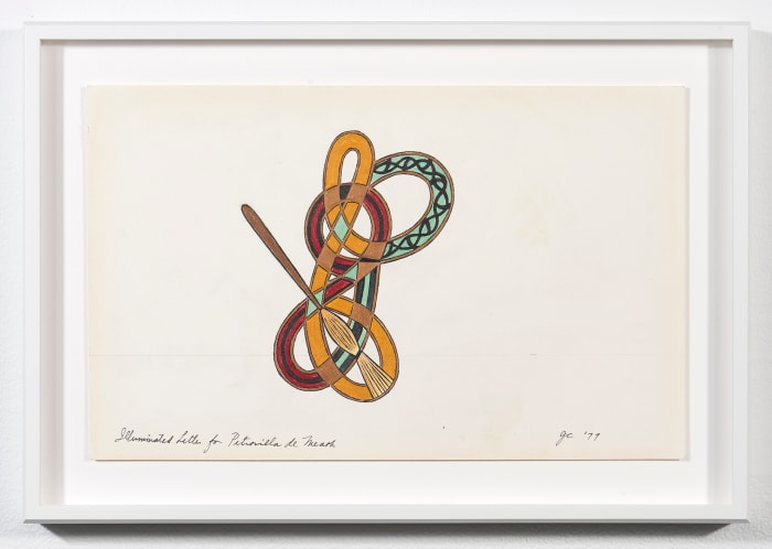 Illuminated Letter for Petronilla de Meath by Judy Chicago