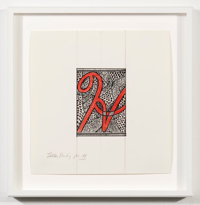 "Letter study for ""H"" by Judy Chicago"