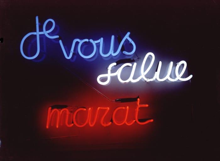 Je vous salue Marat by Ian Hamilton Finlay