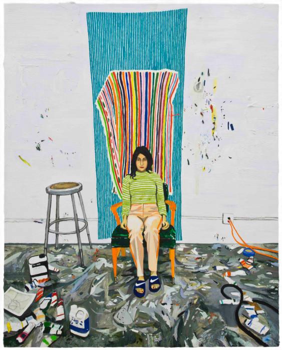 Erika in the Studio by Raffi Kalenderian