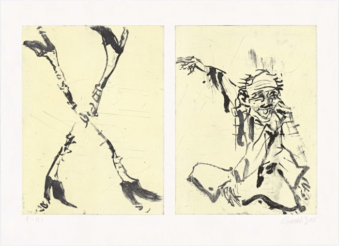 Besuch von Hokusai II by Georg Baselitz