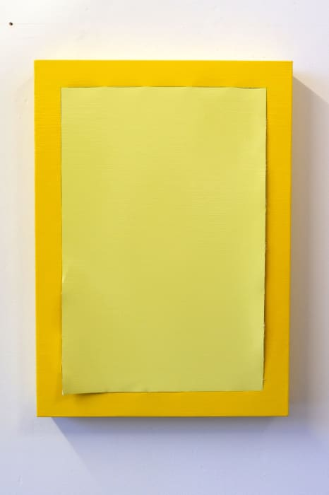 Peel (Pale Yellow/Cadmium Yellow) by Angela de la Cruz