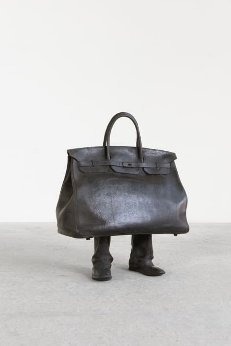 Short bag by Erwin Wurm