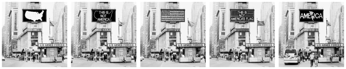 A Logo for America by Alfredo Jaar