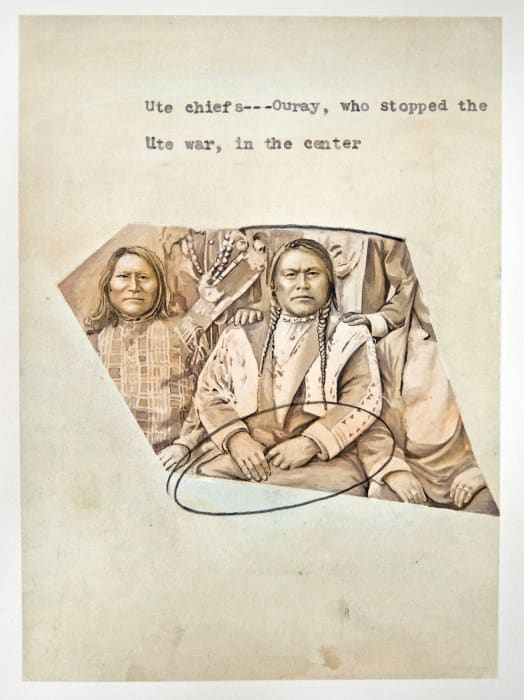 Ute Chief who Stopped the Ute War by Elisabetta Benassi