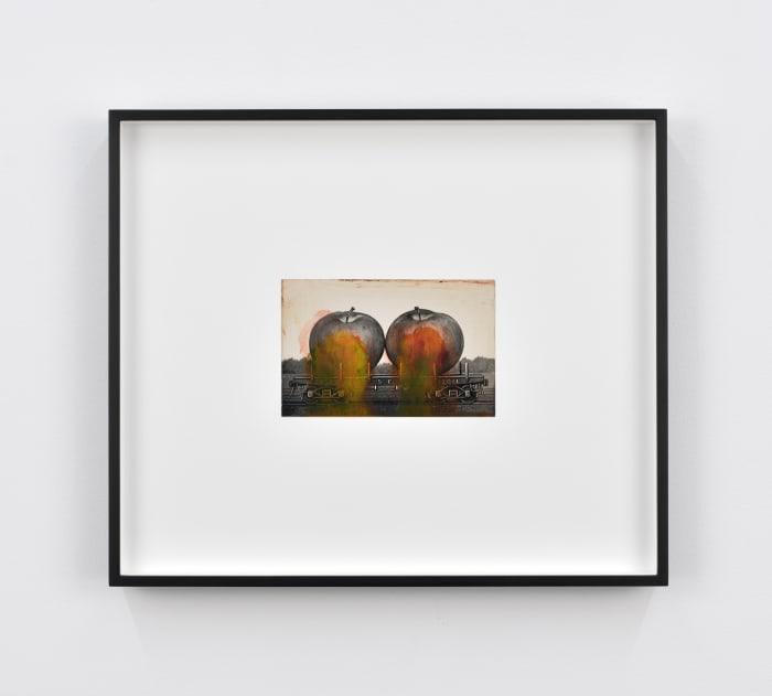 Found Postcard Monoprint (Pair of Apples) by Tacita Dean