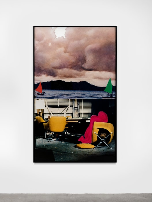 Clouds (Incomplete): Two Sailboats/Chaotic Situation by John Baldessari