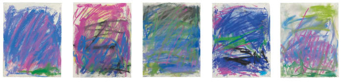 Untitled (five pastels) by Joan Mitchell