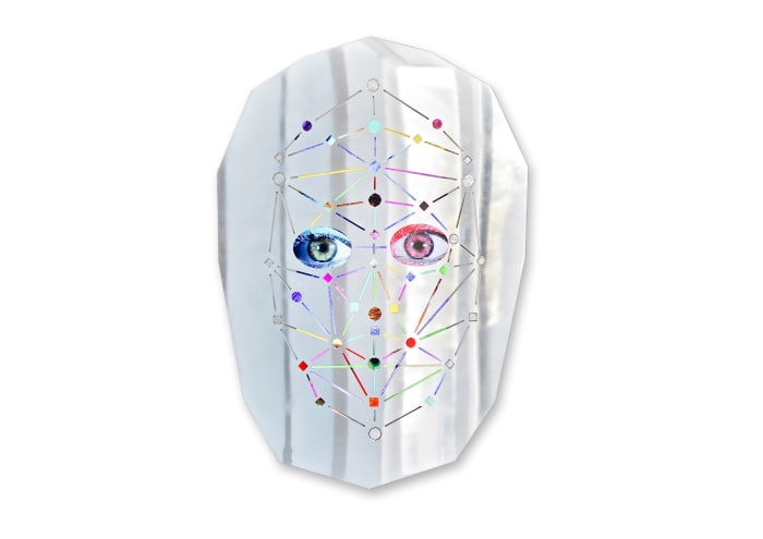 0]arK (silver) by Tony Oursler