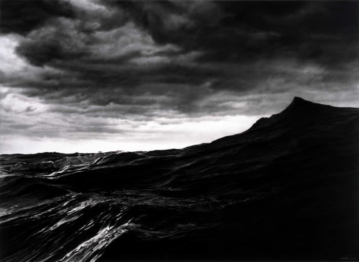 Untitled (Cresting Wave) by Robert Longo
