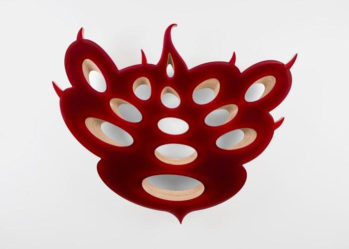 Lot 081718 (mercurial ruby) by Donald Moffett