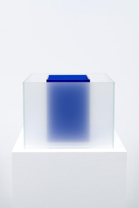 Untitled Maquette (True Sea Salt / True Lapis) by Larry Bell