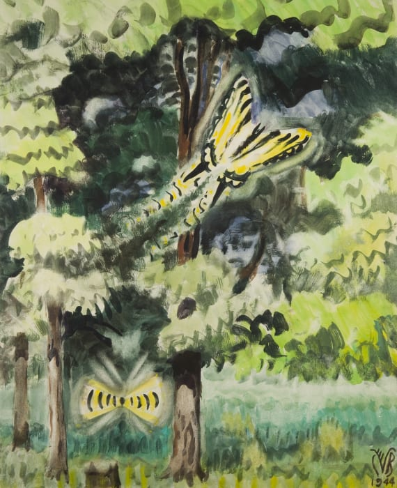 Tiger Swallowtail Butterfly by Charles Burchfield