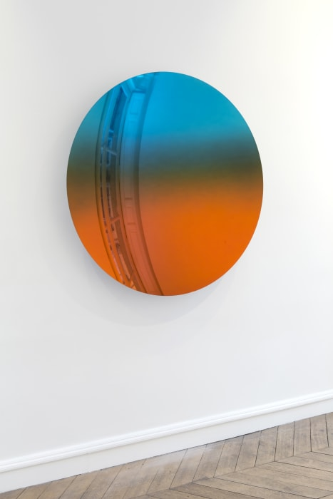 Mirror (Mipa Blue to Tangerine) by Anish Kapoor