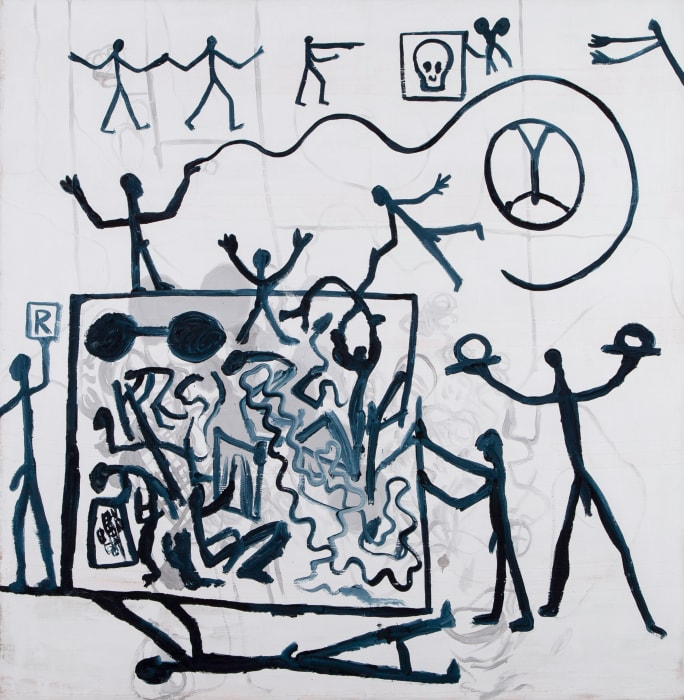 'Heaven and Hell (Himmel und Hölle)' by A. R. Penck