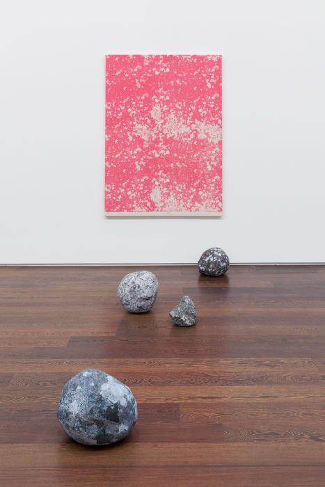 Magenta Stone by Sarah Sze