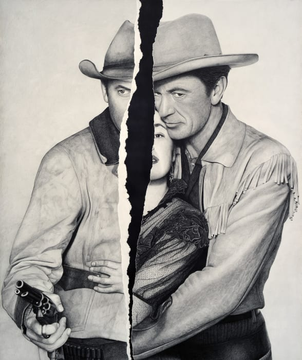 No Title (Jimmy Stewart/Ruth Roman/Gary Cooper) by Karl Haendel