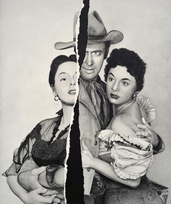 No Title (Ruth Roman/Jimmy Stewart/Ruth Roman) by Karl Haendel