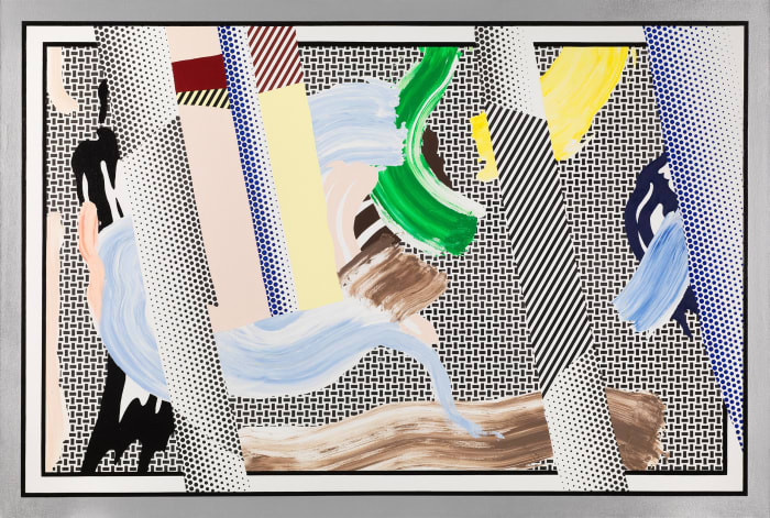 Reflections on Brushstrokes by Roy Lichtenstein
