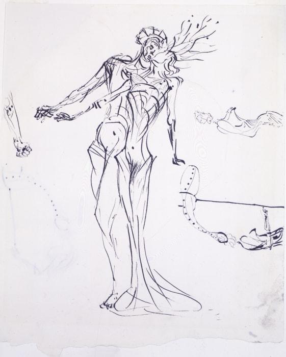 Etude deux figures by Salvador Dalí
