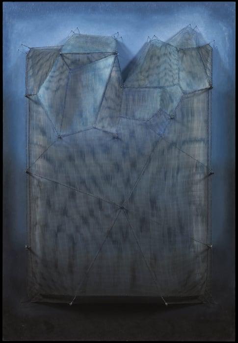 Espejo azul by Manuel Rivera