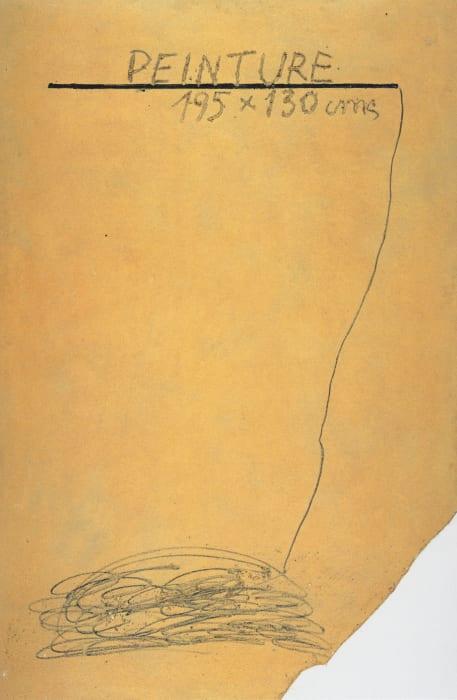 Ocre con Inscripciones by Antoni Tàpies