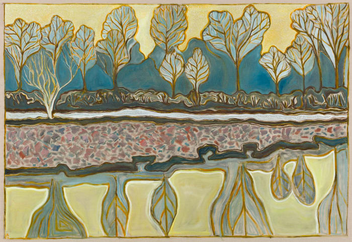 temple march evening by Billy Childish