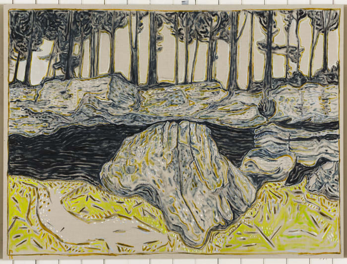 rock before cave by Billy Childish