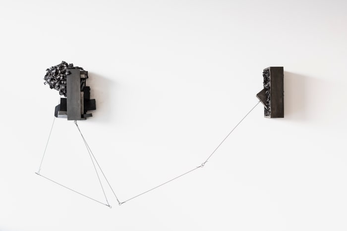 Untitled (double suspended case) by Tunga