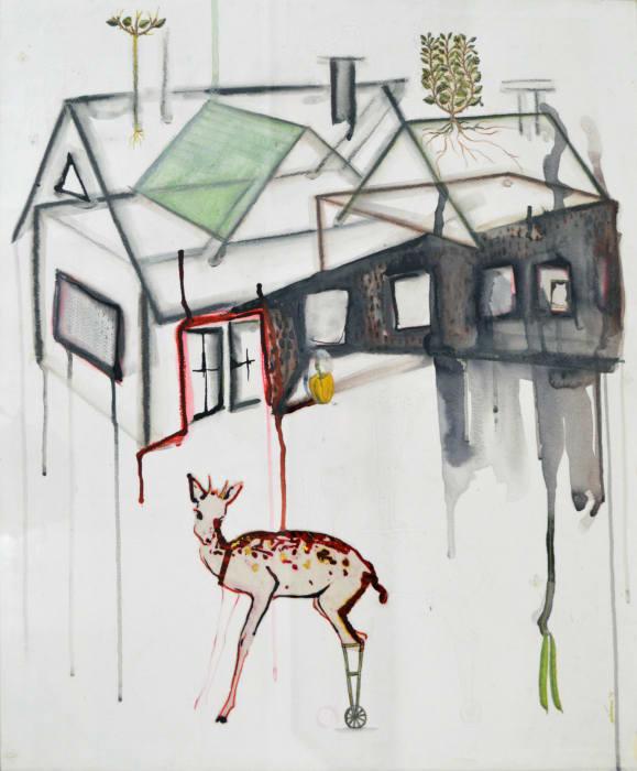 Half - Home-3 by Mithu Sen