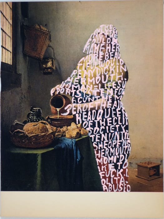 Women Words #47 (Vermeer) by Betty Tompkins