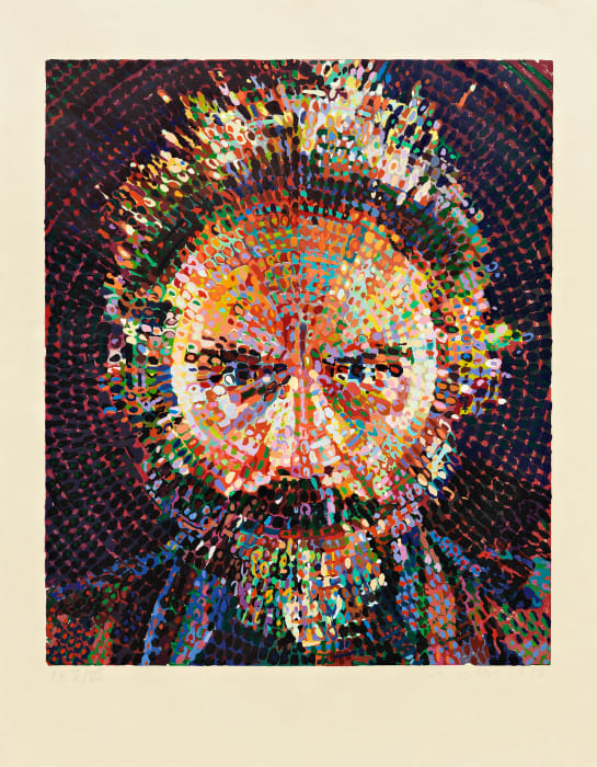 Lucas/Woodcut by Chuck Close