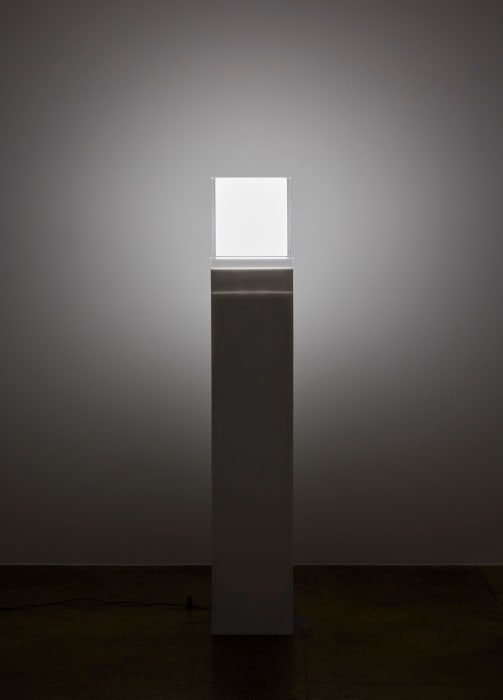 Untitled (Electric Light) by Mary Corse