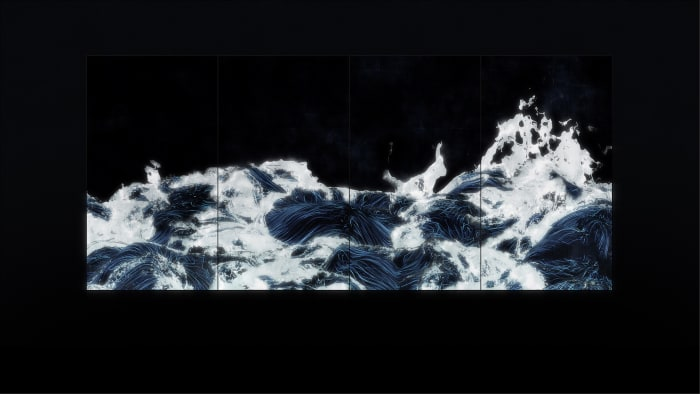 Black Waves by teamLab