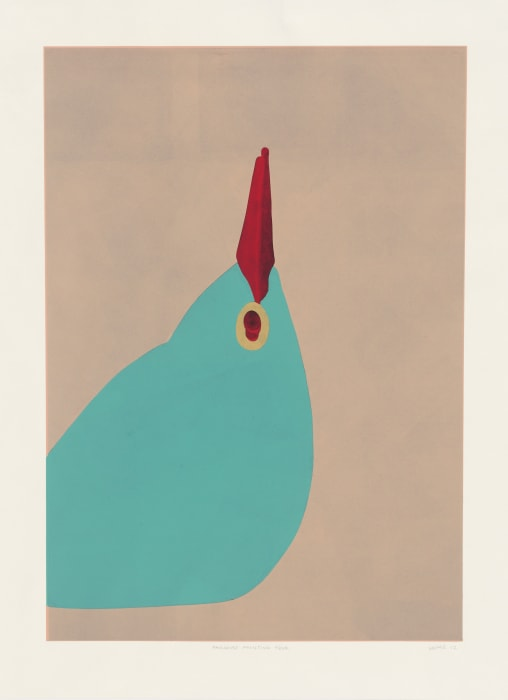 Paradise Printing Four from Six Linocuts by Gary Hume