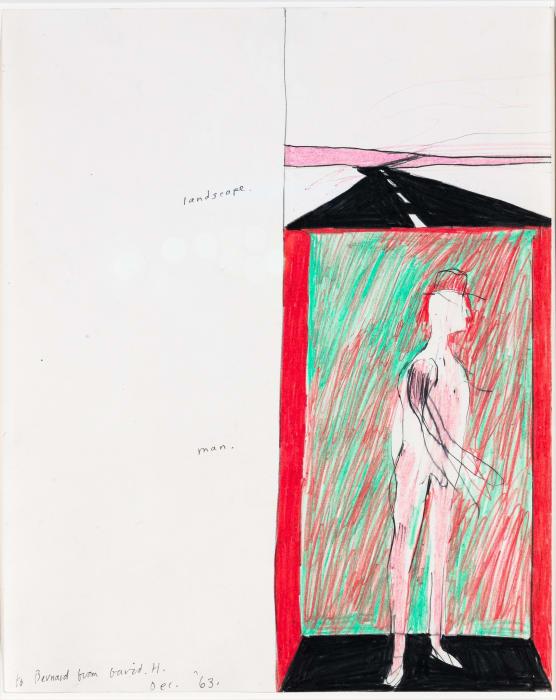 Landscape and Man by David Hockney