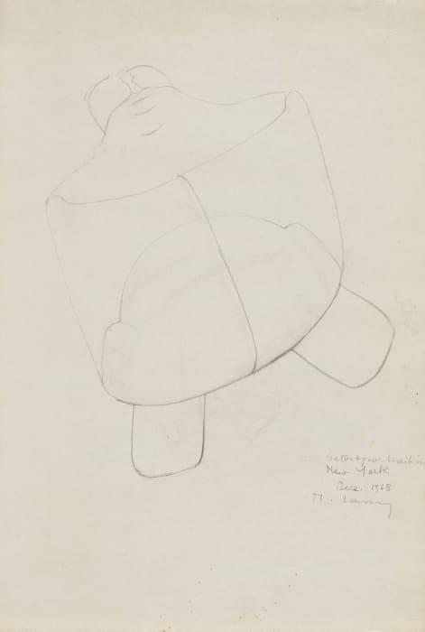 Selbsportrait in New York by Maria Lassnig