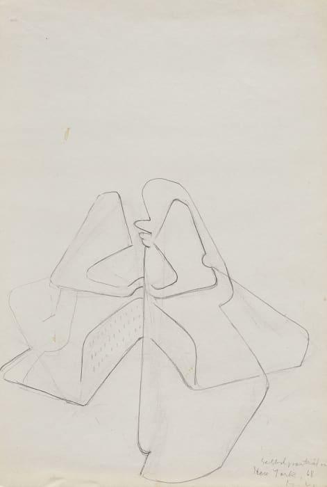 Selbstporträt in New York by Maria Lassnig