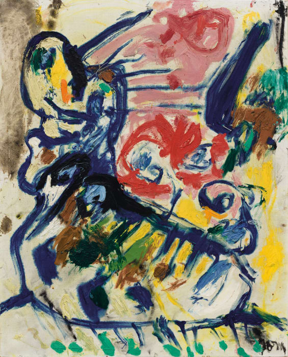 La caresse atroce (The fiendish caress) by Asger Jorn